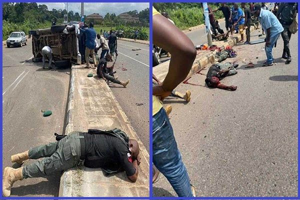 Accident-involving-Toyota-Hilux-truck-of-Ondo-State-police