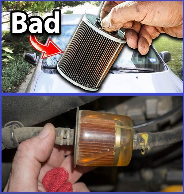 Clogged-fuel-filter-of-a-car