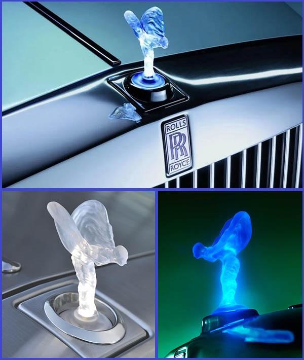 Illuminated-Spirit-of-Ecstasy-hood-ornament-of-Rolls-Royce-cars