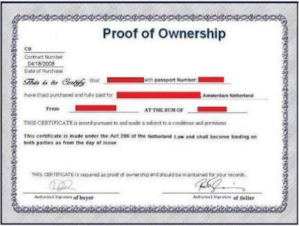 proof-of-ownership-certificate