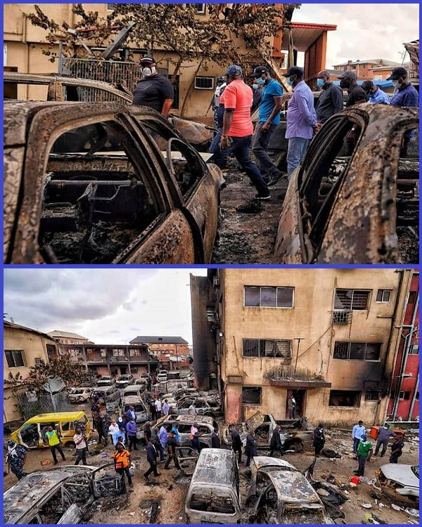 Governor-Sanwo-Olu-inspecting-burnt-government-offices-across-Lagos-state