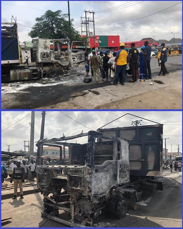 LASEMA-recovering-vandalized-vehicles-from-attacked-police-stations-in-Lagos