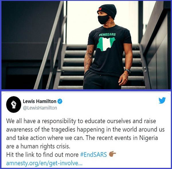 Lewis-Hamilton-wears-T-shirt-with-#ENDSARS-printed-on-it