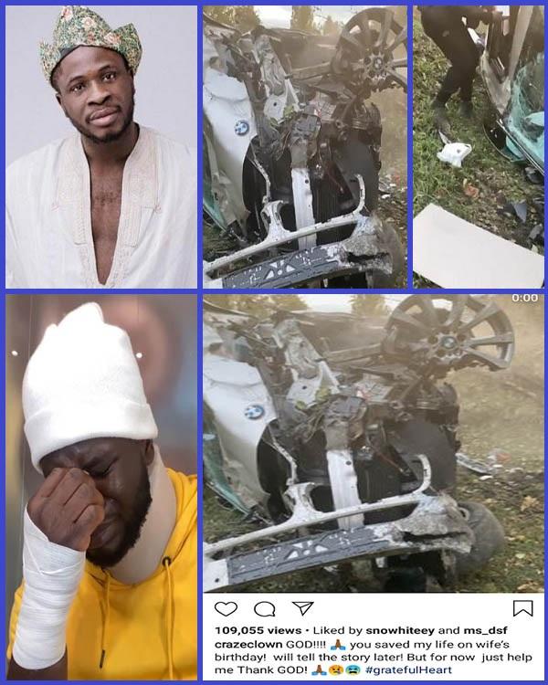 Wrecked-BMW-car-of-Nigerian-Comedian-CrazeClown