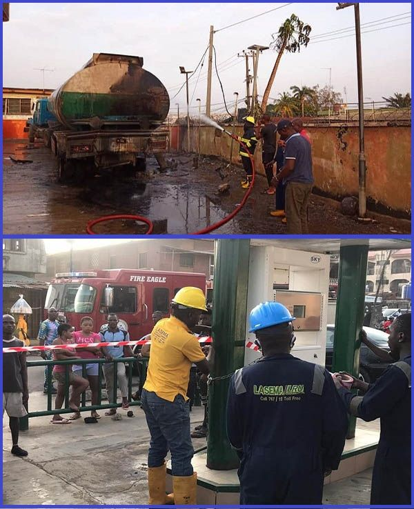 LASEMA-officials-extinguishing-a-fire-in-a-Lagos-filling-station