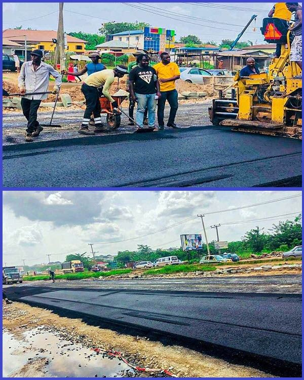 Photos-showing-new-look-of-Olomore-Brewery-road-in-Ogun-state
