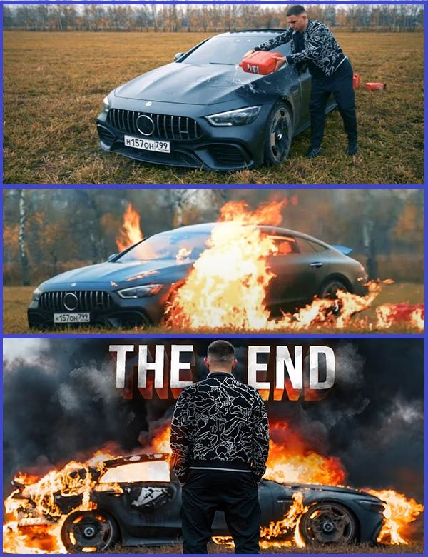 Russian-vlogger-burning-his-Mercedes-AMG-GT-63-S-sports-car