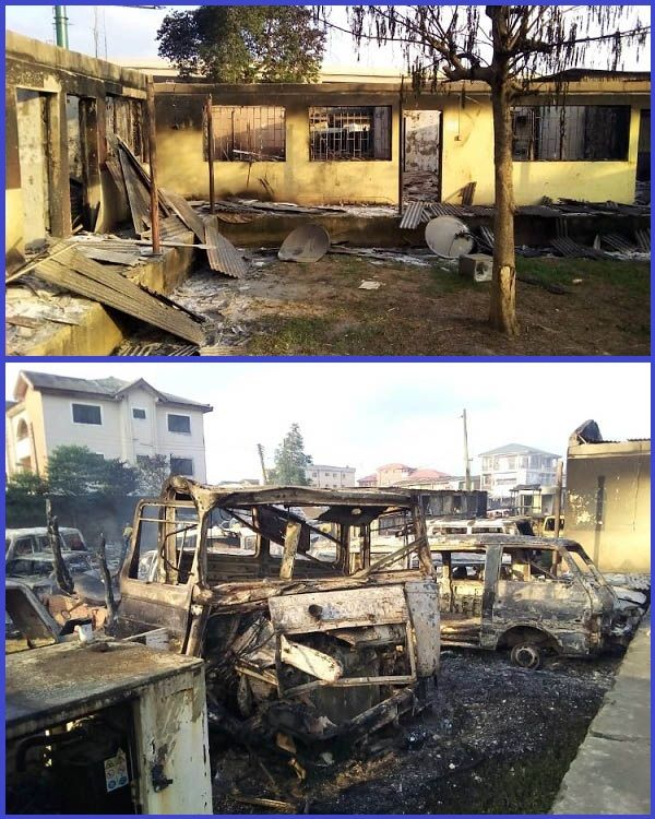 Burnt-cars-in-vandalized-LASTMA-office-buildings
