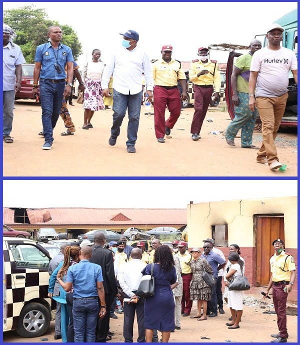 General-Manager-of-LASTMA-inspecting-vandalized-offices-in-Lagos