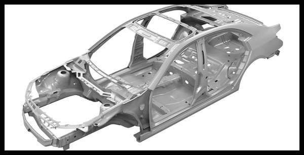 Unibody-chassis-of-a-crossover