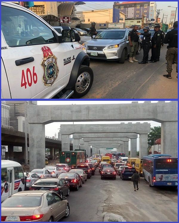 Police-officers-coordinating-Traffic-in-Lagos