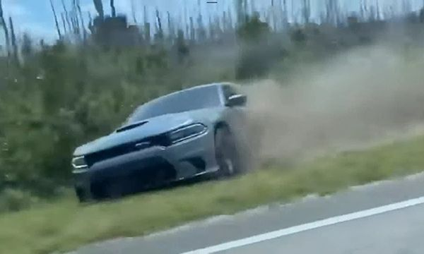 dodge-charger-strays-into-a-bush