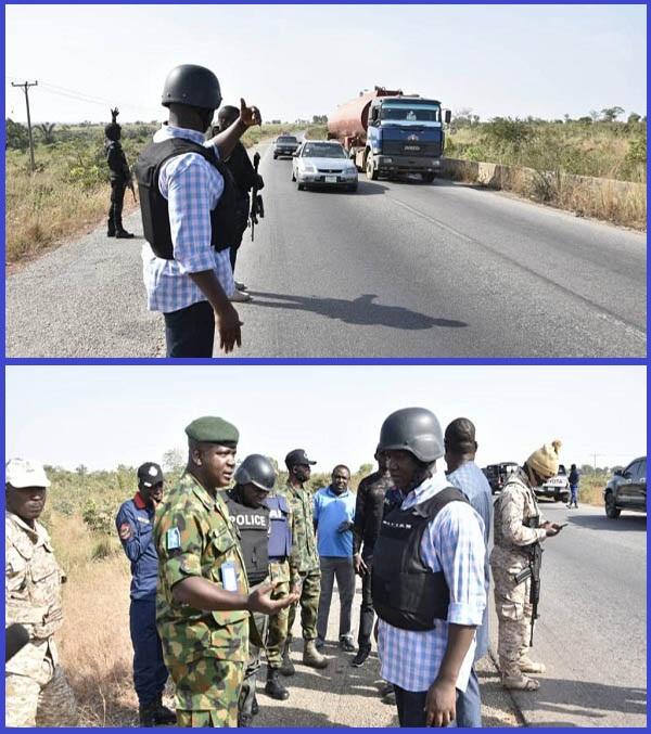 Security-operatives-patrolling-Kaduna-Abuja-road