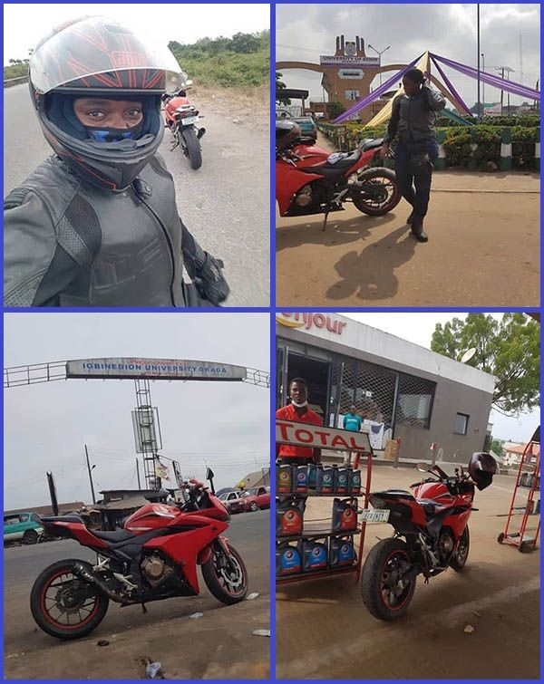 Photos-of-Nigerian-female-bike-who-traveled-from-Lagos-to-Benin-city-riding-a-motorcycle