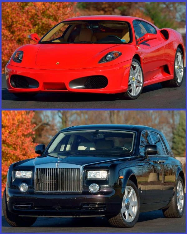 Ferrari-F430-F1-Coupe-and-Rolls-Royce-Phantom-formerly-owned-by-President Donald Trump