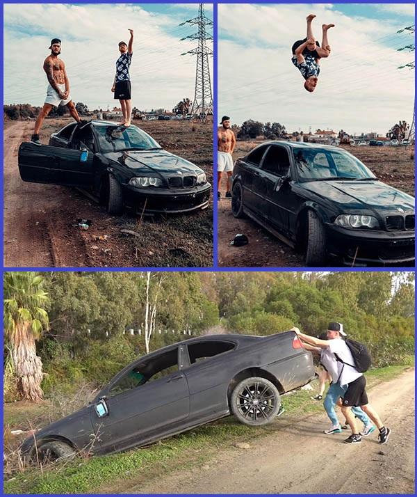 Photos-of-British-YouTuber-Ryan-Taylor-with-his-BMW-3-Series-sedan