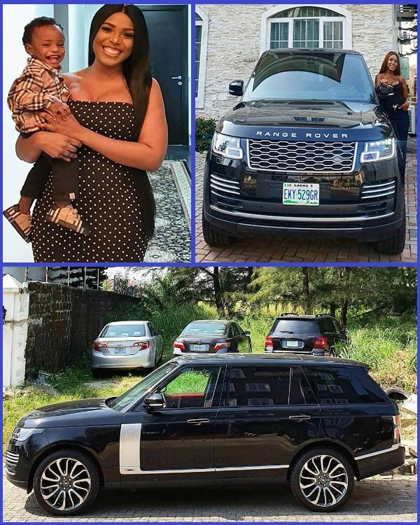 Linda-Ikeji-poses-with-her-new-Range-Rover-Autobiography-SUV