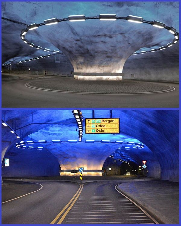 Beautiful-view-inside-the-undersea-road-roundabout-in-Europe