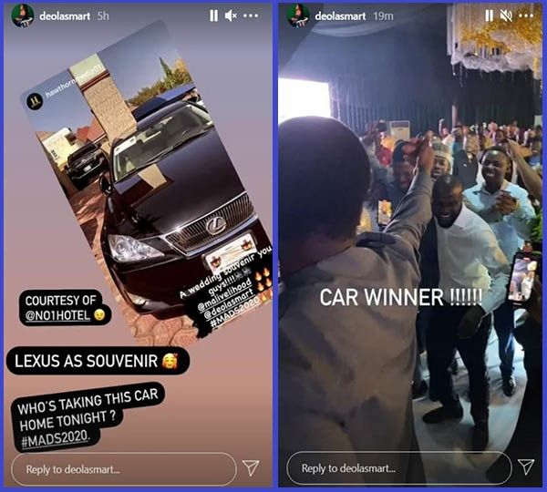 Photos-showing-moment-Uber-driver-won-expensive-souvenir-at-malivehood-Deola-smart-wedding