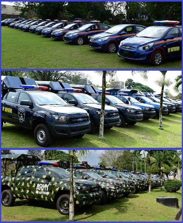 New-vehicles-and-bikes-donated-by-Cross-Rivers-state-governor-to-support-Operation-Akpakwu