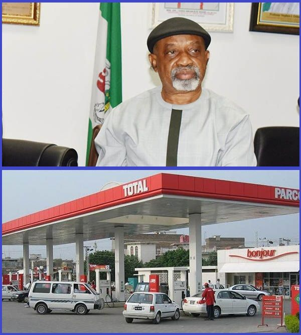 Photo-of-Dr-Chris-Ngige-and-a-Nigerian-petrol-station