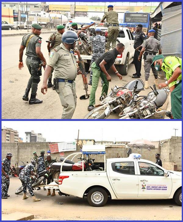 Lagos-special-taskforce-impounding-motorcycles-of-traffic-violators