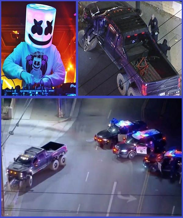 Photos-from-incident-scene-where-super-truck-belonging-to-DJ-Marshmello-was-crashed