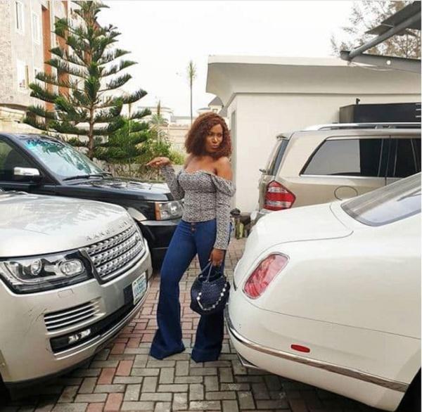 Linda-ikeji-and-her-cars
