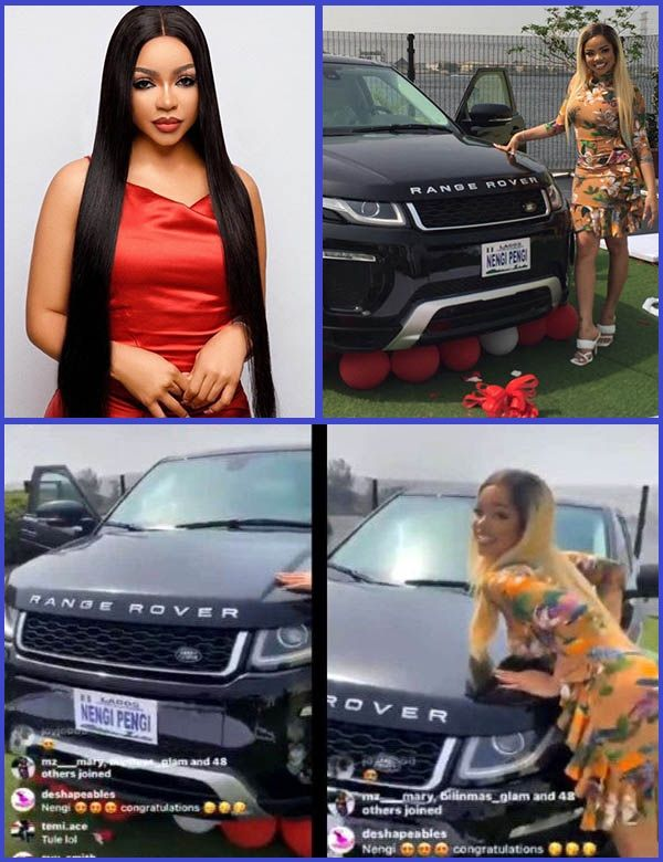 BBNaija-Star-Nengi-poses-with-her-new-Range-Rover-SUV