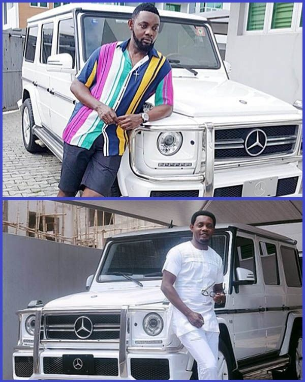 Comedian-AY-posing-with-his-expensive-cars