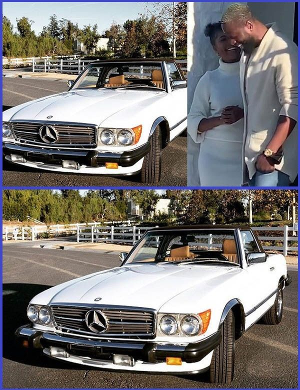 Photo-of-the-1988-Mercedes-Benz-560SL-convertible-which-Gabrielle-Union-gifted-her-husband
