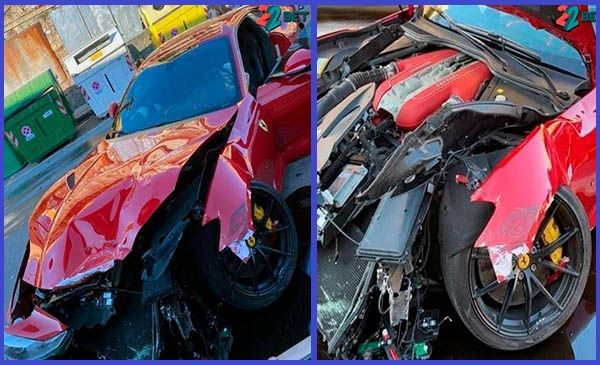 Collage-photo-showing-the-crashed-Ferrari-812-Superfast-of-goalkeeper-Federico-Marchetti