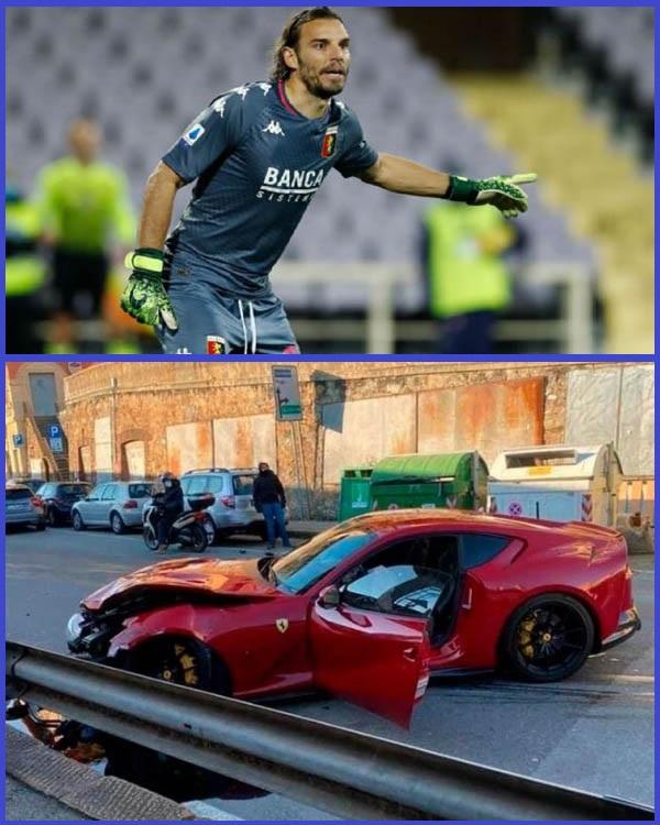 Photos-of-crashed-Ferrari-belonging-to-Italian-goalkeeper-Federico-Marchetti