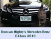 Duncan Mighty acquires Mercedes-Benz E-Class 2010 with custom plate