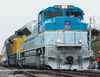 The Air Force One-like train that carries George Bush snr to his final resting place