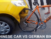 German bike proves to be stronger than a Chinese car