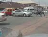 Man spotted pulling his car with only a rope in Edo state