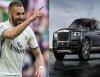 Karim Benzema of Real Madrid displays newly acquired Rolls-Royce Cullinan SUV