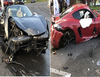 Supercars smash: ₦93 million Ferrari crashes into ₦47 million Porsche