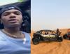 Watch Wizkid shows off his driving skills on Dubai desert!