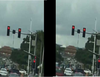 Faulty traffic light in Abuja gives motorists confusing signals (video)