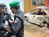 Police arrested Lagos security guard whose boss was burnt inside car