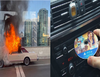 Car catches fire after child stuffed money into CD player