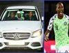 [Photos] Moment Nigerian Striker, Odion Ighalo arrives Man Utd training center in white Mercedes-Benz car