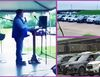 See this video of a Pastor holding church service for members seated in their cars amidst COVID-19 outbreak