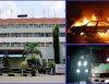 Fire outbreak in Lagos Airport Hotel destroys Toyota bus, Honda car, and a Cadillac Escalade SUV