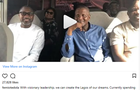 Femi Otedola, Governer Ambode and Aliko Dangote enjoys a bus ride together