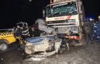 Head-on collision on Berger Bridge turns victim car into scrap metal