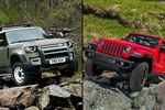 2019 Jeep Wrangler Rubicon vs 2020 Land Rover Defender: Similar size but different performance