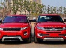 Chinese Range Rover Evoque clone crashed into the genuine thing